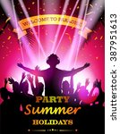 party summer holidays | Shutterstock .eps vector #387951613