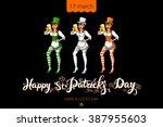 happy saint patricks day... | Shutterstock . vector #387955603