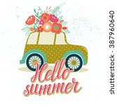 vector summer illustration with ... | Shutterstock .eps vector #387960640