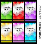 set of colorful backgrounds   Shutterstock .eps vector #38796217