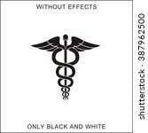 the symbol of physicians | Shutterstock .eps vector #387962500