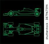 formula one  linear light... | Shutterstock .eps vector #387967594