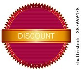 discount icon and label in red...