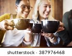 friends meeting happiness... | Shutterstock . vector #387976468