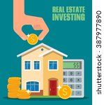 property investment concept....   Shutterstock . vector #387977890