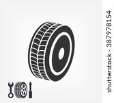 wheel icon. vector  eps 10  | Shutterstock .eps vector #387978154