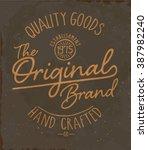 vintage tee print design  ... | Shutterstock .eps vector #387982240
