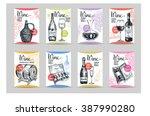 vector backgrounds with hand... | Shutterstock .eps vector #387990280