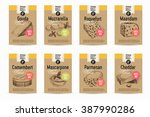 vector hand drawn cheese... | Shutterstock .eps vector #387990286