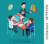 business meeting and...   Shutterstock .eps vector #387995596