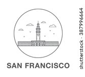 san francisco ferry building.... | Shutterstock .eps vector #387996664