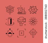 set of line vectors icons in...