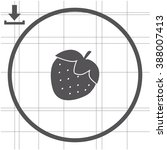 strawberry vector icon. | Shutterstock .eps vector #388007413