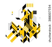 abstract composition of complex ... | Shutterstock .eps vector #388007554