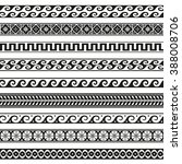 old greek border designs  | Shutterstock . vector #388008706