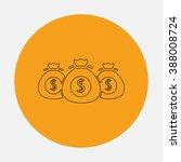 money bag. simple flat icon on...