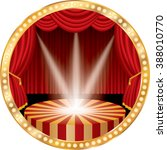 vector circle stage with red... | Shutterstock .eps vector #388010770