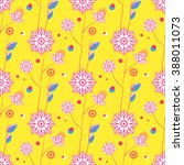 colorful seamless floral...   Shutterstock .eps vector #388011073
