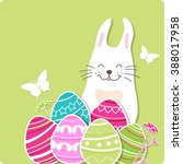decorative easter card with... | Shutterstock .eps vector #388017958