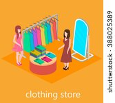 isometric interior of clothes...   Shutterstock .eps vector #388025389