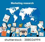 marketing research concept... | Shutterstock .eps vector #388026994