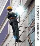 welding  metal  vertical   wall | Shutterstock . vector #38802793