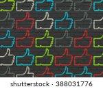 social media concept  thumb up... | Shutterstock . vector #388031776