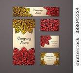 templates set. business cards ... | Shutterstock .eps vector #388045234