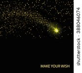 gold glitter on a black... | Shutterstock .eps vector #388046074