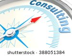 consulting word on isolated... | Shutterstock . vector #388051384