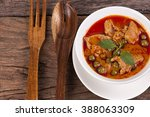 panang pork curry  thailand... | Shutterstock . vector #388063309