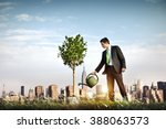 businessman entrepreneur profit ... | Shutterstock . vector #388063573