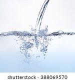 Blue Tone Water Splashing...