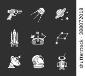 nine stylish space icons | Shutterstock . vector #388072018