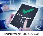 completed accomplishment... | Shutterstock . vector #388072960