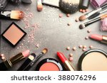 frame of decorative cosmetics... | Shutterstock . vector #388076296
