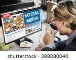 social media communication... | Shutterstock . vector #388080040