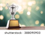 winner cup with abstract... | Shutterstock . vector #388090903