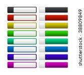 set of raster buttons   Shutterstock . vector #38809849
