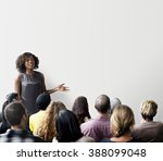 meeting discussion talking... | Shutterstock . vector #388099048