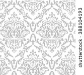 Vector. Gray Seamless Damask...