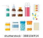 Pills Capsules Icons Vector...