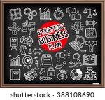 doodle business plan icons set. ... | Shutterstock .eps vector #388108690