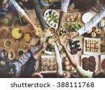 friends happiness enjoying... | Shutterstock . vector #388111768