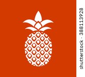 pineapple icon  | Shutterstock .eps vector #388113928