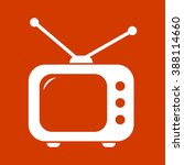 tv  icon | Shutterstock .eps vector #388114660