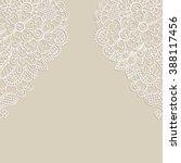 white flower frame  lace... | Shutterstock .eps vector #388117456