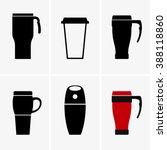 coffee travel mug | Shutterstock .eps vector #388118860