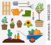 gardening set. illustration... | Shutterstock .eps vector #388120120