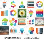 20 vector circle infographics... | Shutterstock .eps vector #388120363